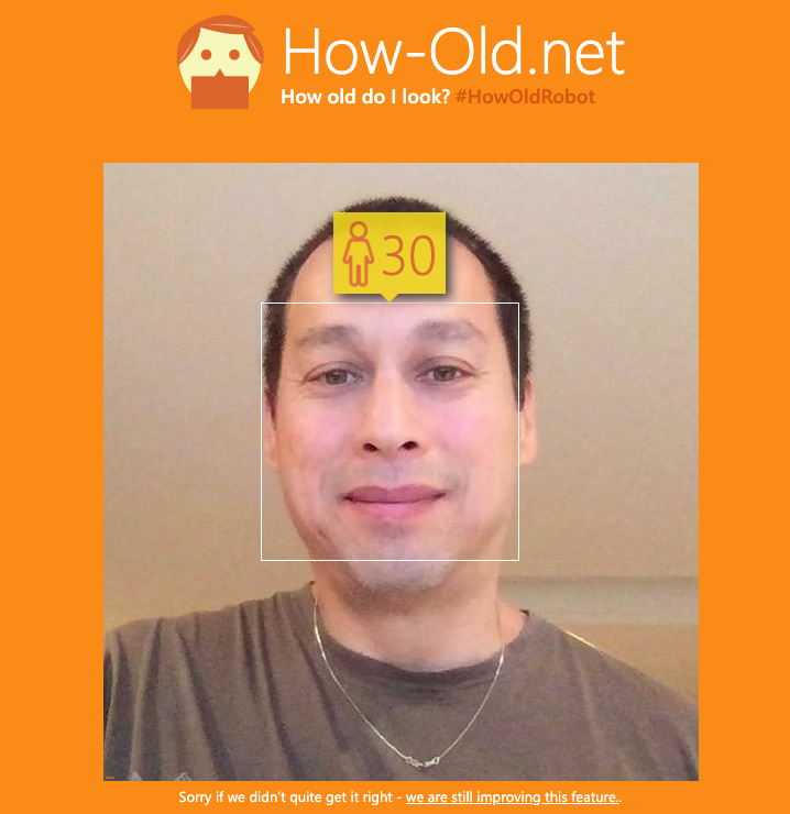 photo result from how-old.net